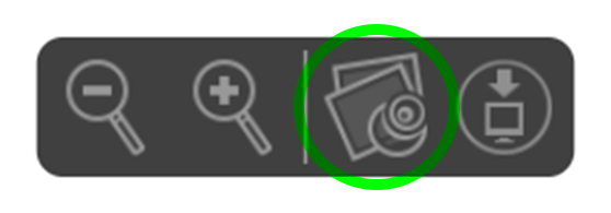A screenshot showing the icons that appear in Safari towards the bottom of the browser whenever you view a PDF. The icon that's second to the right is highlighted, and if you click this, you will open the PDF in Apple's Preview.