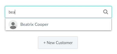 Entering Customer Name in Appointment Creation menu.