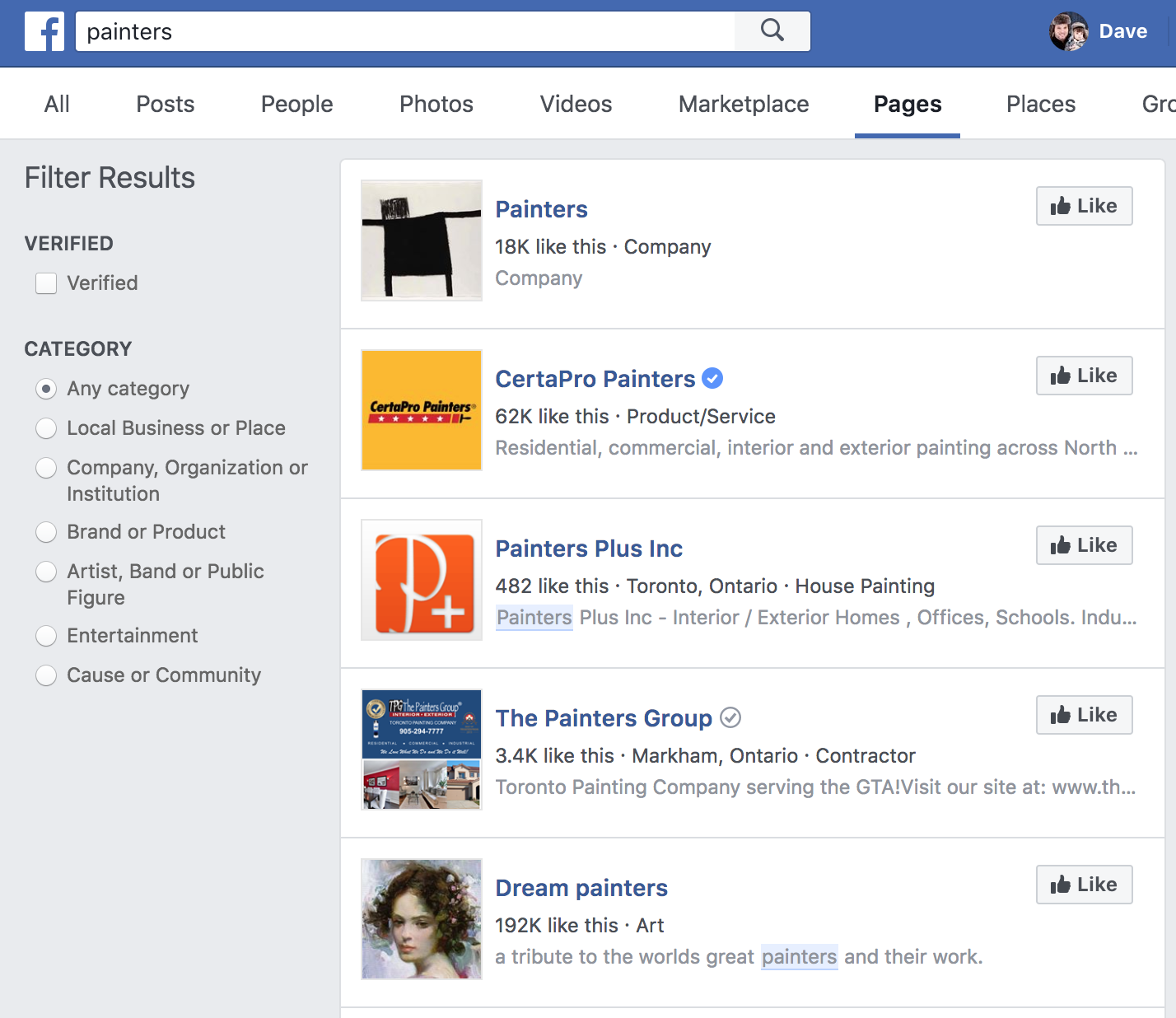 obtaining clients from facebook pages