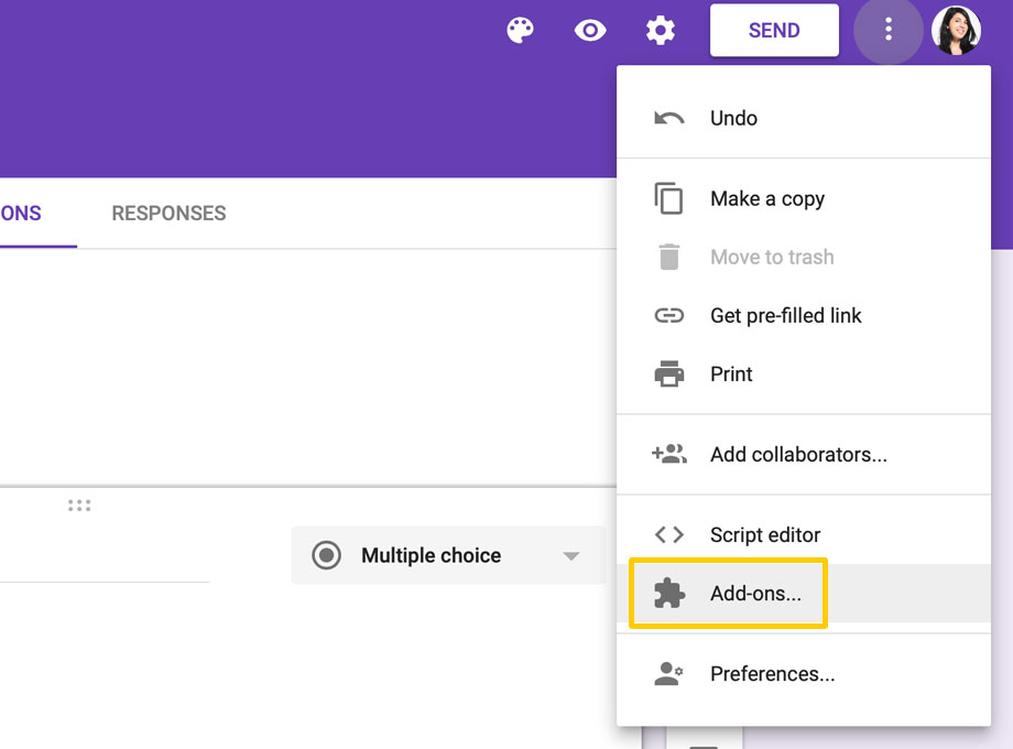 Google Forms Add-on