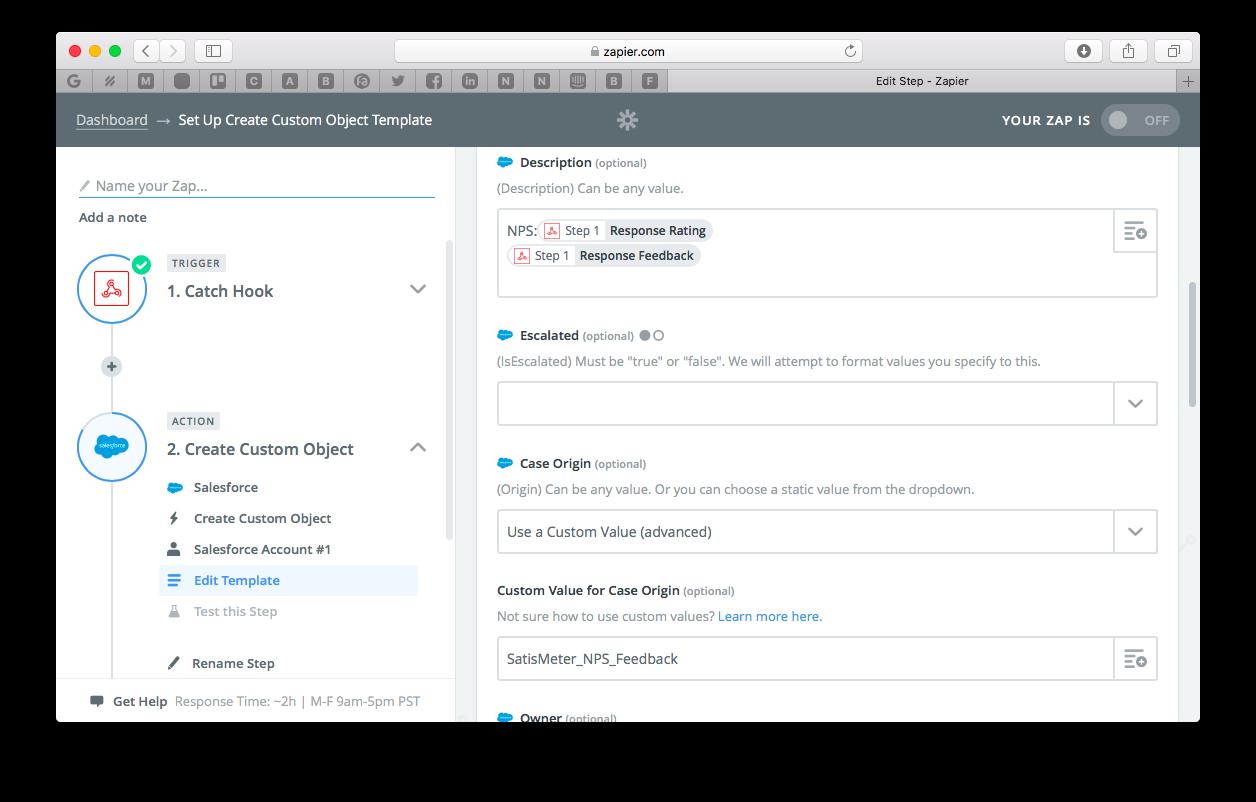 SatisMeter - How to send NPS feedback into SalesForce via Zapier