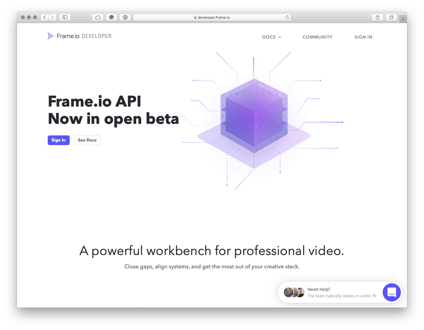 Frame.io Developer Portal