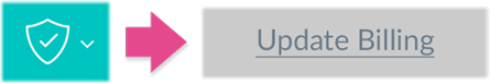 Clicking the Update Billing from the Shield icon