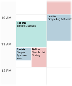 View of appointments and double booked appointments.