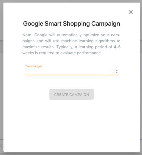 google smart shopping campaign set up with emarketing