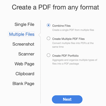 Combing multiple PDFs into a single PDF