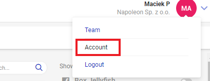 account settings in napoleoncat