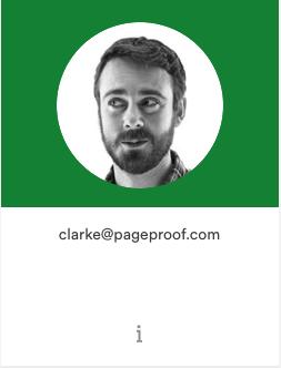 Team member profile tile