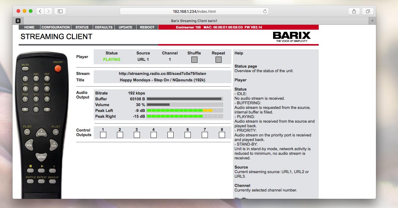 Barix streaming audio online.