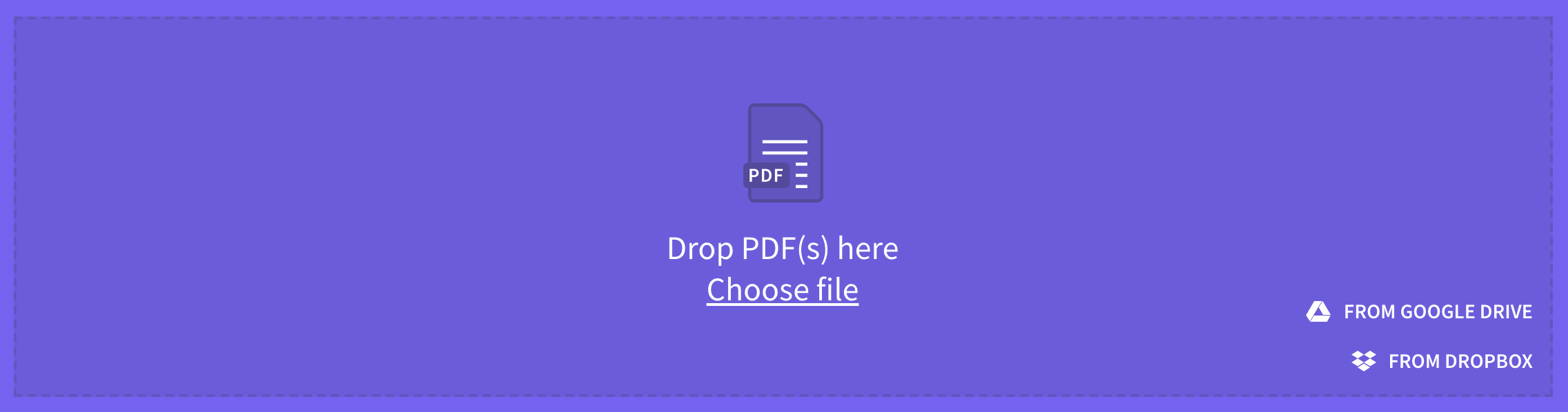 Drag PDF files into SmallPDF