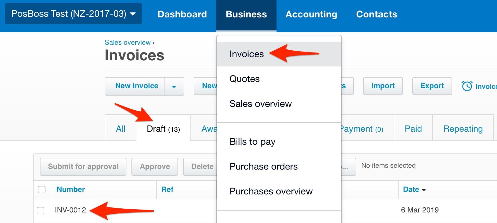 Xero Invoices