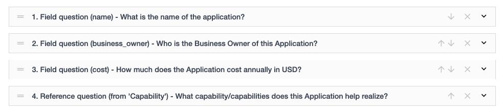 Ardoq survey questions