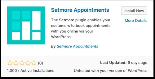 The Setmore Plugin for WordPress