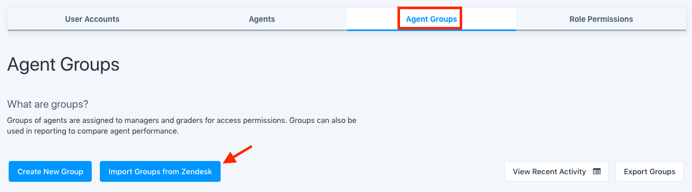 agent groups import