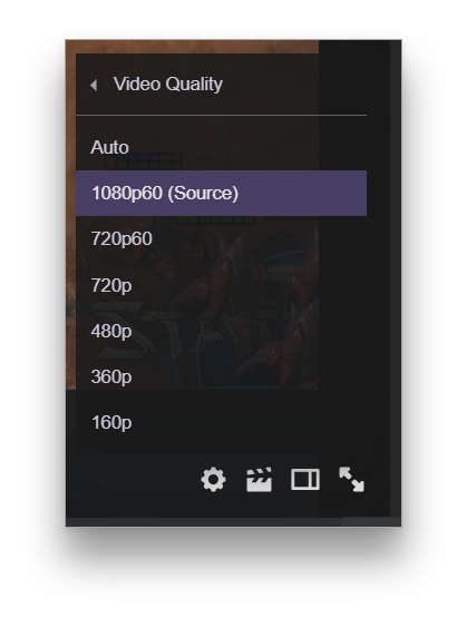 Video quality settings