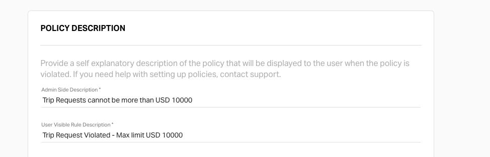 description of trip request policy