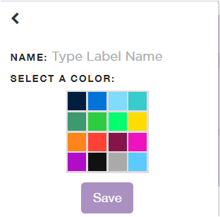 Type in a name for the label and choose a color