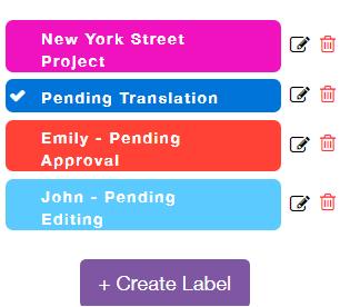 Edit or delete a label