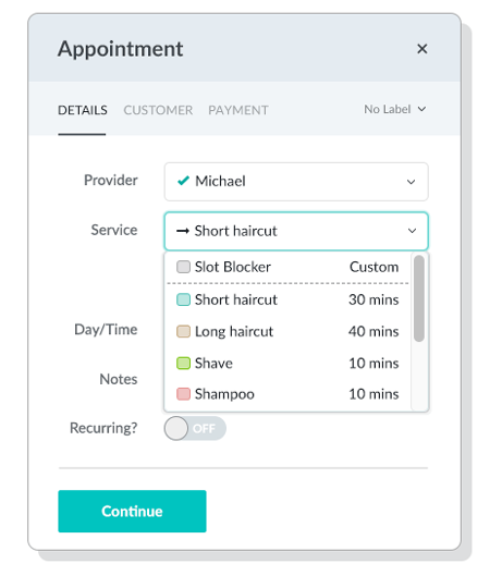 Choosing_Service_while_creating_Appointment