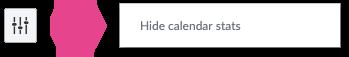 Hiding the calendar stats through the Settings icon