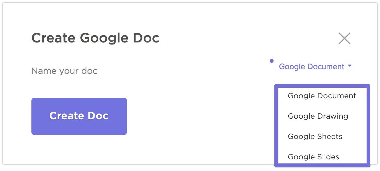Creating a Google File from your tasks.