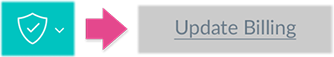 Clicking the Update Billing under the Shield icon