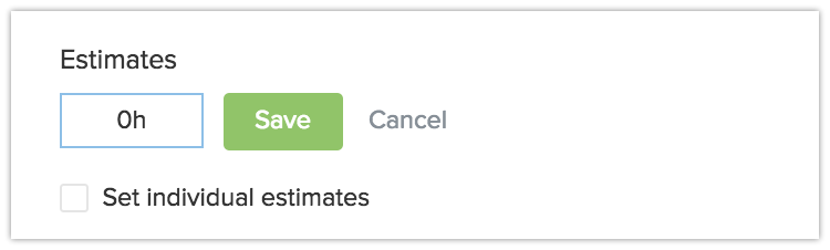 Adding a time estimate to Everhour.