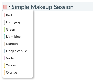 Assigning a color for a Setmore service