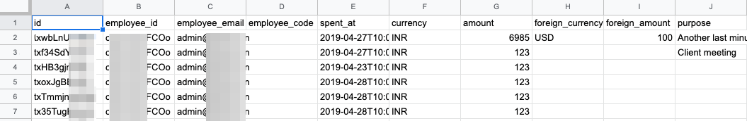 Expense exports on Fyle