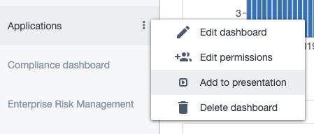 Ardoq add dashboards to presentations