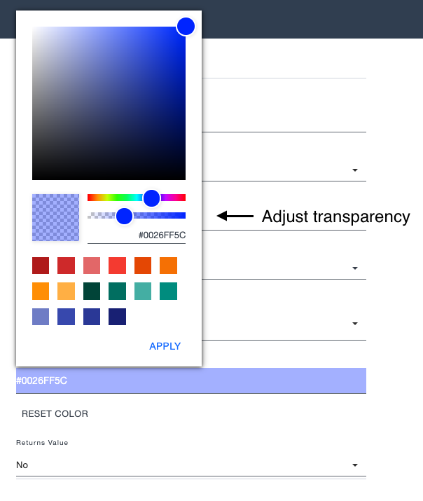 Ardoq component types and model color