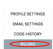 Billing tab