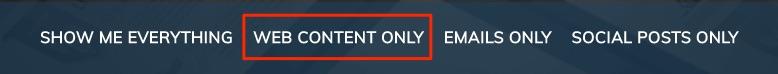 Content Navigation Bar
