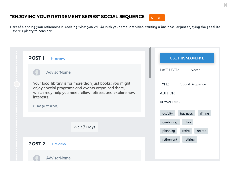 Social Sequence Preview