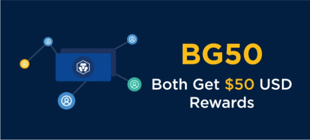 Crypto.com earn 50$ when invite a friend bg50 referral program