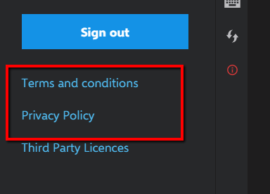 INK Privacy Policy or Terms and Conditions