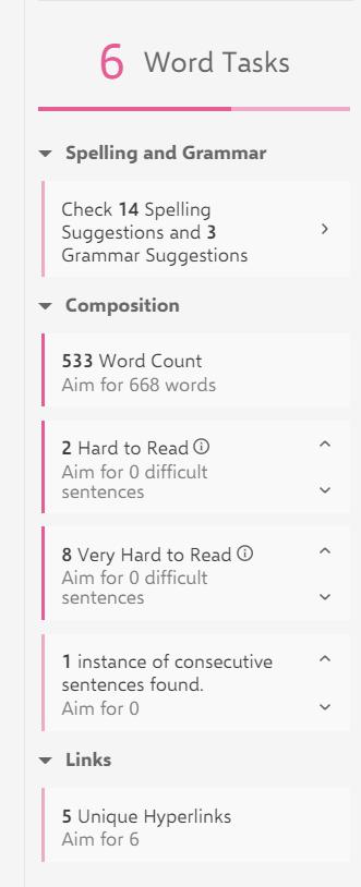 Word Tasks