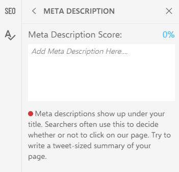 meta description tab