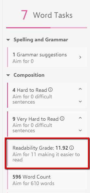Word Tasks toolbar