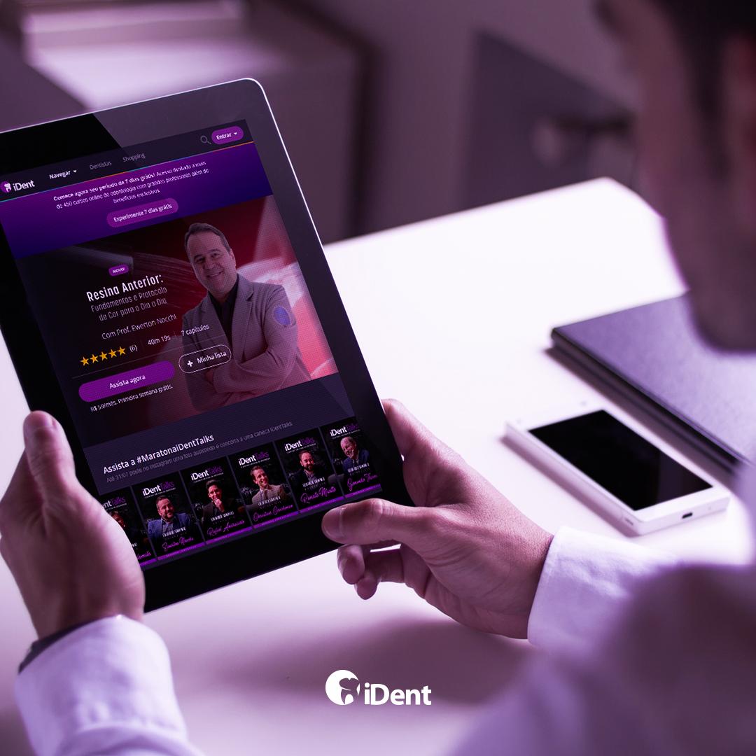 Imagem demonstrando a home page do site do iDent
