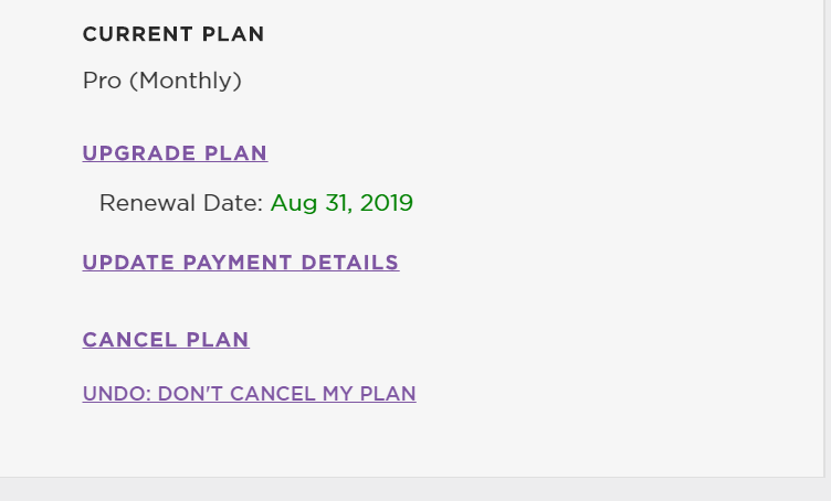 Click Update Payment Details