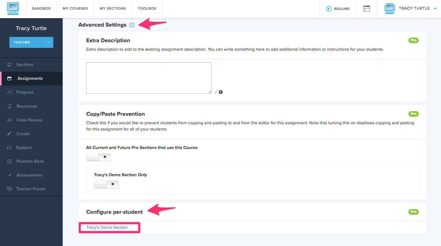 Red arrows shoeing Is Assigned settings from advanced settings page