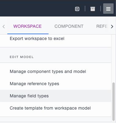 Ardoq manage field types