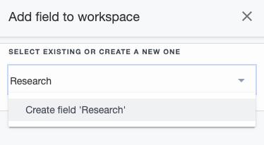 Ardoq add field to workspace