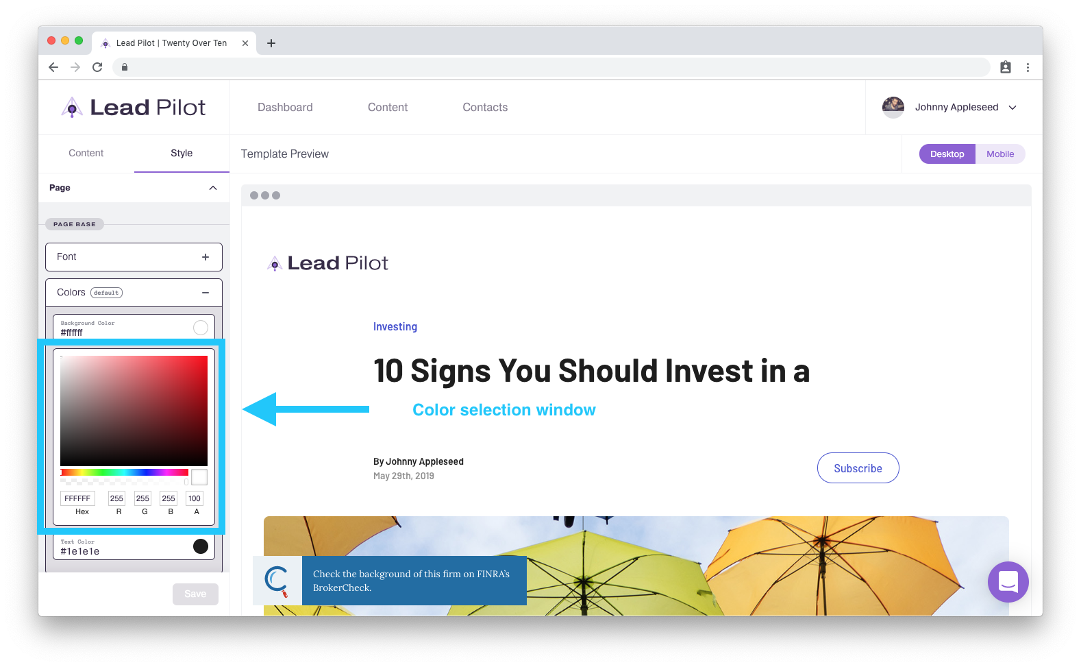 landing pages style