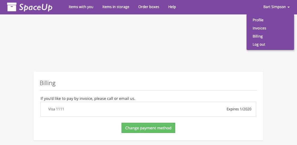 Valet Customer App: Billing