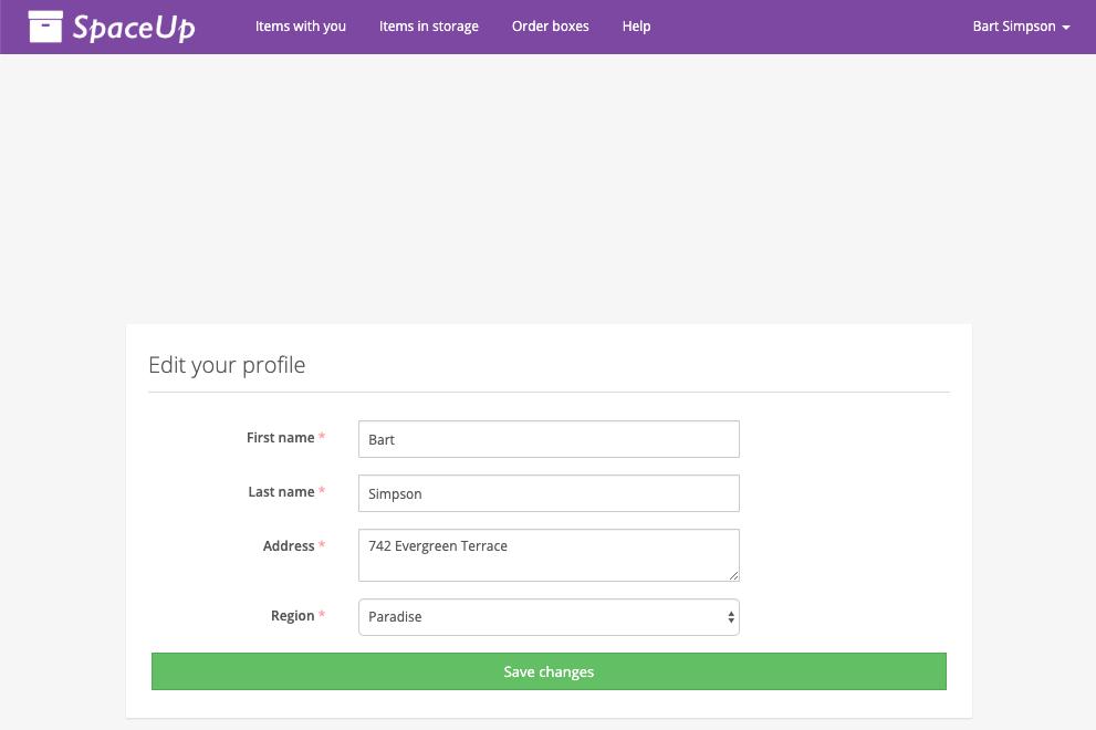 Valet Customer App: Profile