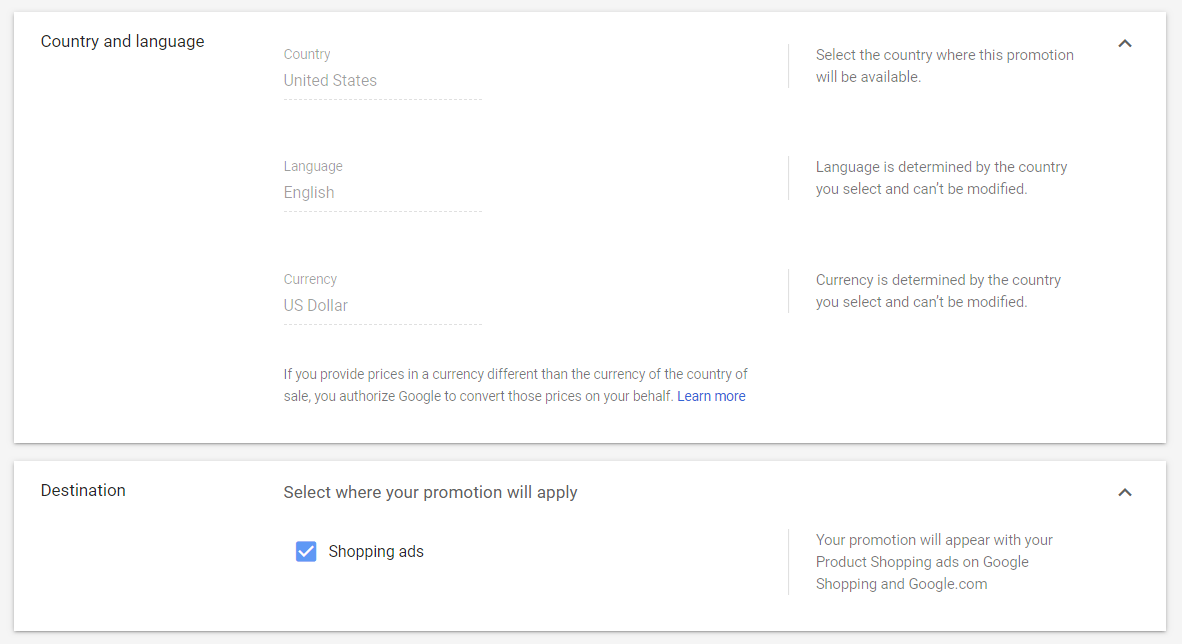 Add Merchant Promotions in Google