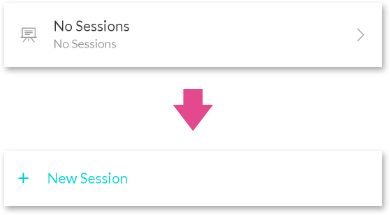 Creating a session in the mobile app