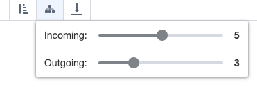 Ardoq swimlanes view settings toolbar